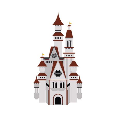 big white castle icon image vector illustration design Illustration