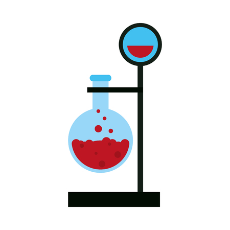 drug discovery: test tube with bubbly liquid science icon image vector illustration design Illustration