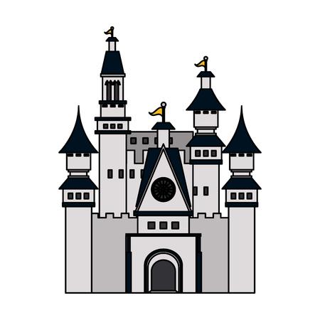 citadel: big white castle icon image vector illustration design Illustration