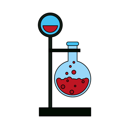 toxic substance: test tube with bubbly liquid science icon image vector illustration design Illustration