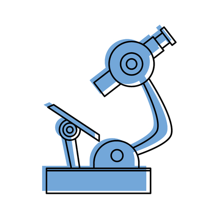 microscope science icon image vector illustration design  blue color