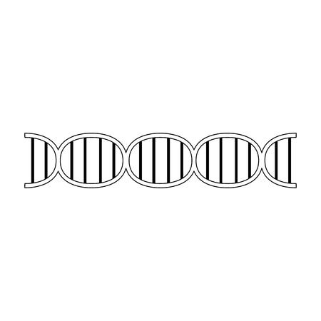 dna strand icon image vector illustration design  black and white