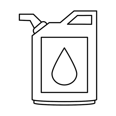 cannister oil industry related icon image vector illustration design  black line
