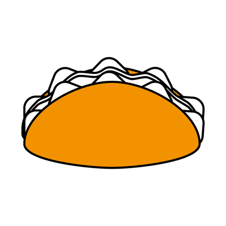 taco food icon image vector illustration design Illustration