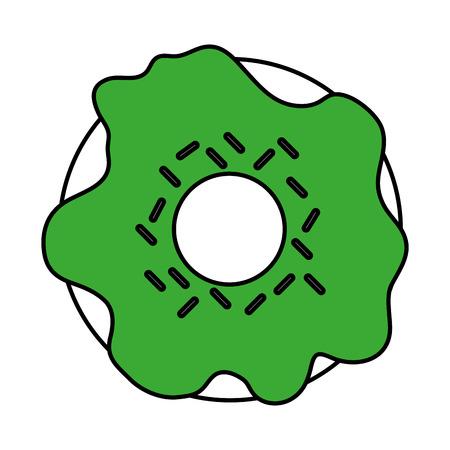 glazed donut icon image vector illustration design