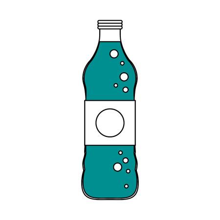 soda bottle with blank label icon image vector illustration design Illustration