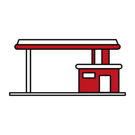 gas station oil industry related icon image vector illustration design