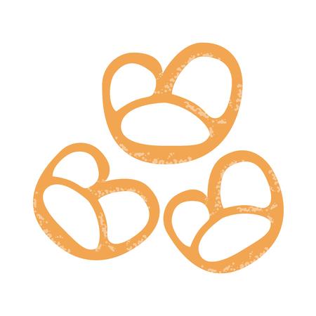 pretzel: pretzels pastry icon image vector illustration design