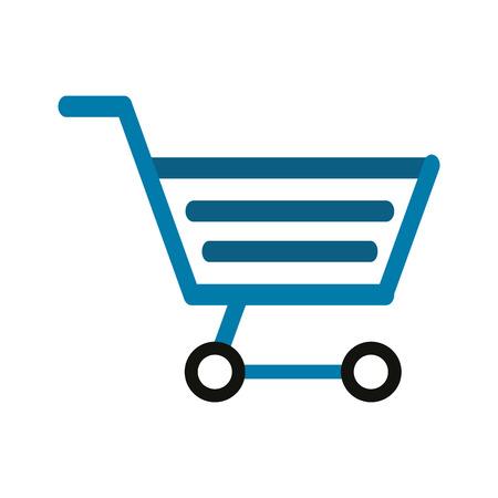 shopping cart icon image vector illustration design Illustration
