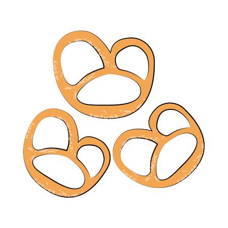pretzels pastry icon image vector illustration design
