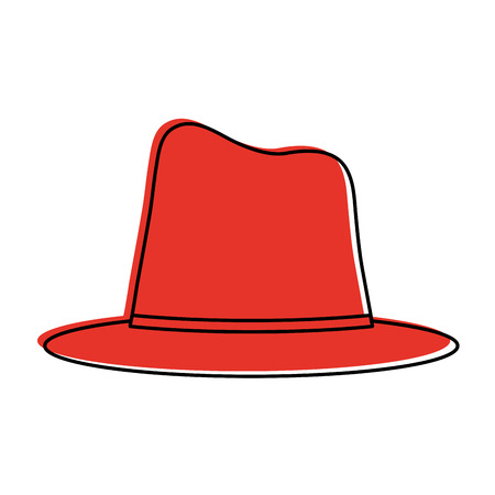 hat tall top  icon image vector illustration design  red color Illustration