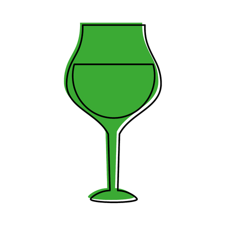 glass of wine icon image vector illustration design  green color Stock Vector - 84858468