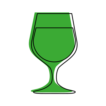 glass of wine icon image vector illustration design  green color Illustration