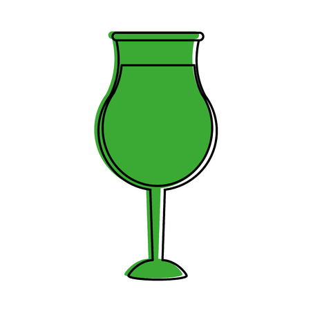 glass of wine icon image vector illustration design  green color Illustration
