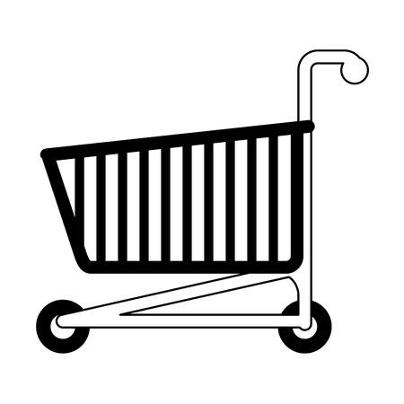 gift basket: shopping cart icon image vector illustration design  black and white Illustration