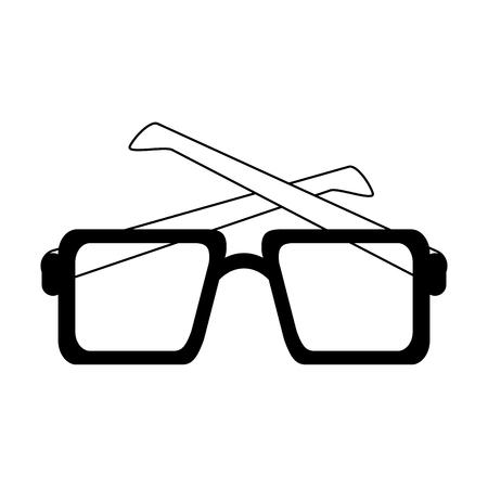 squared sunglasses icon image vector illustration design  black and white
