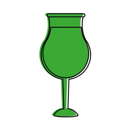 glass of wine icon image vector illustration design  green color Stock Vector - 84880894