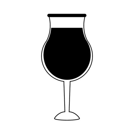 Glass of wine icon image vector illustration design  black and white Illustration