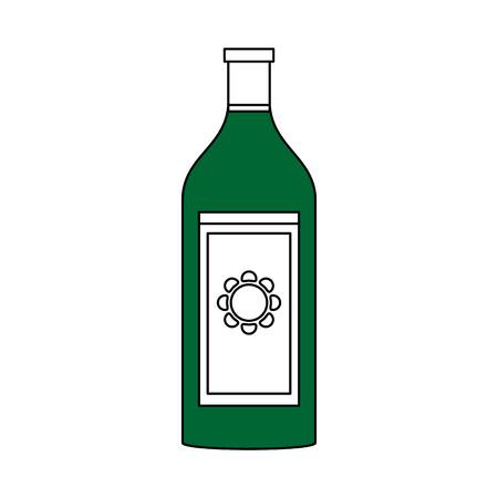 champagne celebration: Flat  line monochromatic  tequila over white background vector illustration Illustration