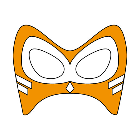 ilustration: flat line monocromatic mask over white  background vector ilustration Illustration