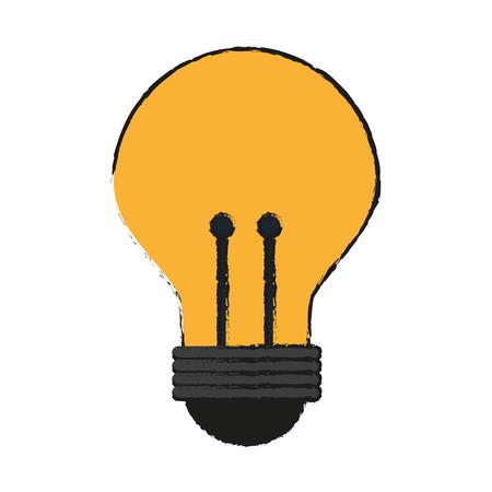 Colorful light bulb doodle over white background vector illustration