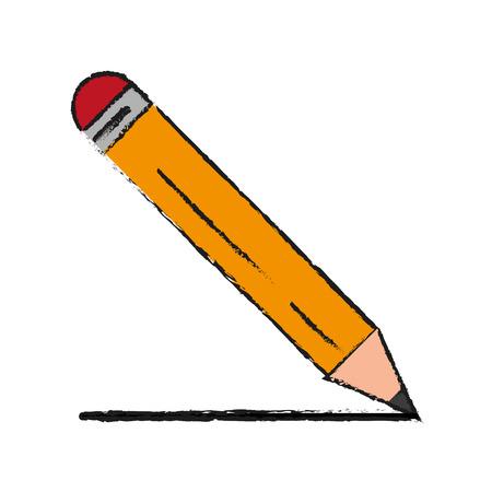 secretarial: Colorful pencil doodle over white background vector illustration