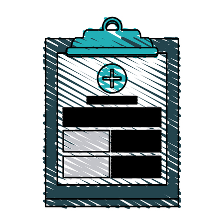 Medical history icon health care and hospital theme Isolated design Vector illustration