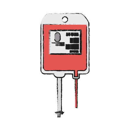Blood bag icon medical health care and hospital theme Isolated design Vector illustration Illustration