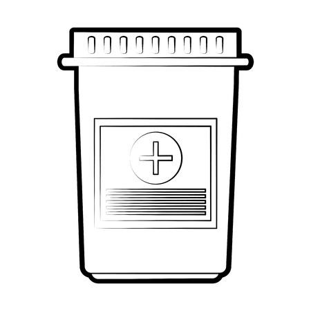 Medicine jar icon medical health care and hospital theme Isolated design Vector illustration Illustration