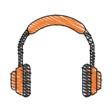 detection: Headphone icon Industrial security safety and protection theme Isolated design Vector illustration Illustration