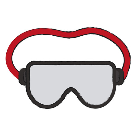 Glasses icon Industrial security safety and protection theme Isolated design Vector illustration