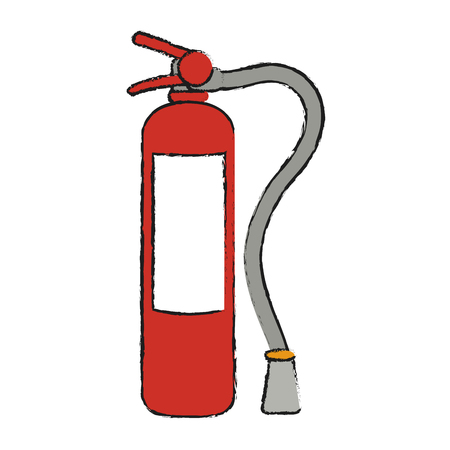 Extinguisher icon Industrial security safety and protection theme Isolated design Vector illustration Illustration