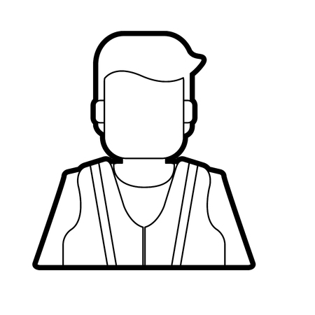 Man icon Industrial security safety and protection theme Isolated design Vector illustration Illustration
