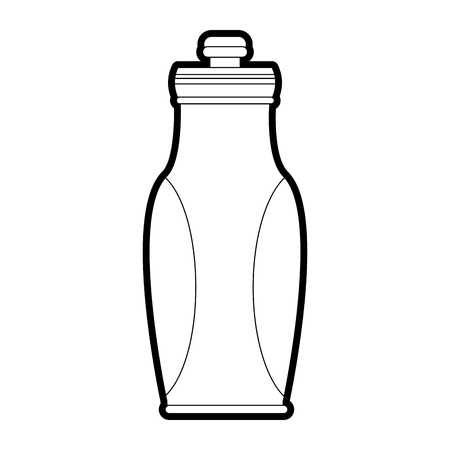 Water bottle icon of  drink and beverage theme Isolated design Vector illustration Illustration