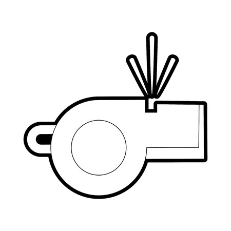 arbitros: Whistle icon of object referee and judge theme Isolated design Vector illustration
