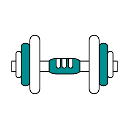 Metal weight icon of fitness gym and exercise theme Isolated design Vector illustration Illustration