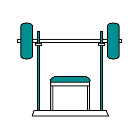 Metal weight icon of fitness gym and exercise theme Isolated design Vector illustration Stock Vector - 85075837