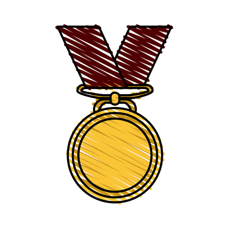 competitor: Medal icon of winner competition success and sport theme Isolated design Vector illustration Illustration