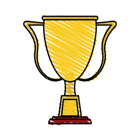 Trophy icon of winner competition success and sport theme Isolated design Vector illustration