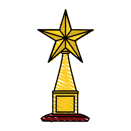 competitor: Trophy icon of winner competition success and sport theme Isolated design Vector illustration