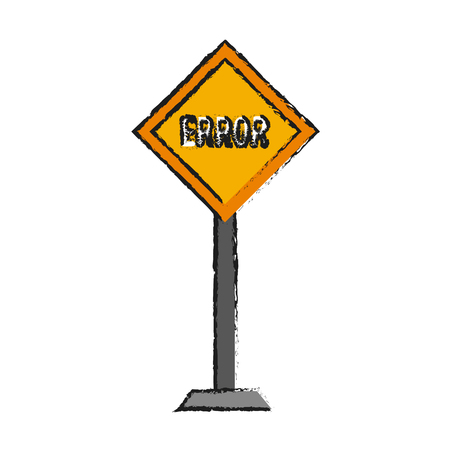 Road sign icon of Street warning and message theme Isolated design Vector illustration