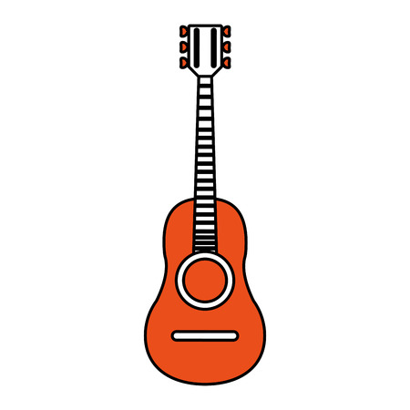 Guitar icon of instrument music and sound theme Isolated design Vector illustration Illustration