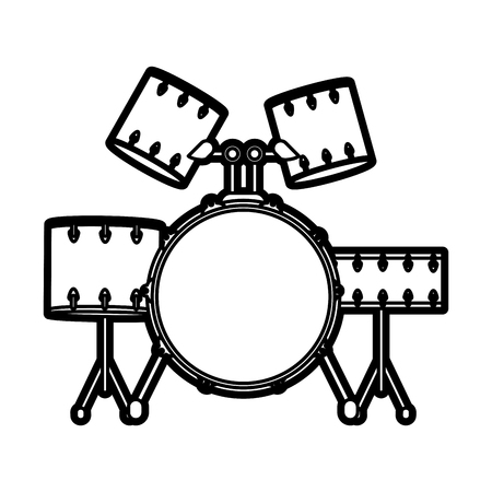 Drums icon of instrument music and sound theme Isolated design Vector illustration Illustration