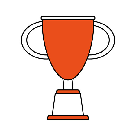 race winner: Trophy icon of winner competition success and sport theme Isolated design Vector illustration