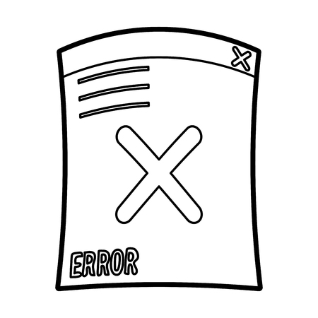 fatal error: Error document icon of warning alert and failure theme Isolated design Vector illustration