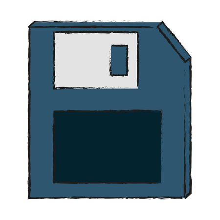 Diskette of technology media and data theme Isolated design Vector illustration Illustration