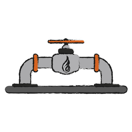 Gas tap of power energy and fuel theme Isolated design Vector illustration Illustration