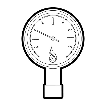 Pressure gauge of power energy and fuel theme Isolated design Vector illustration