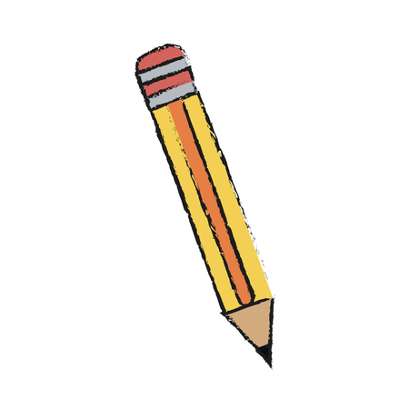 secretarial: Pencil of tool write and office theme Isolated design Vector illustration