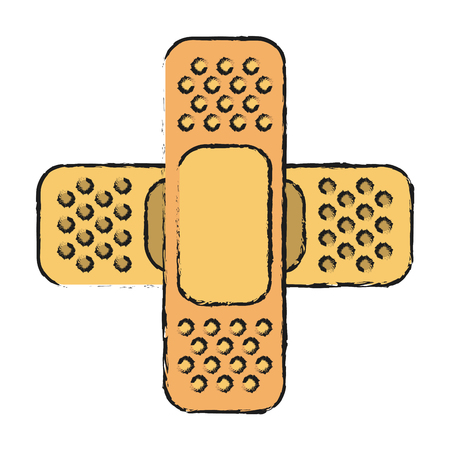 Bandages icon health care and hospital theme Isolated design Vector illustration Illustration